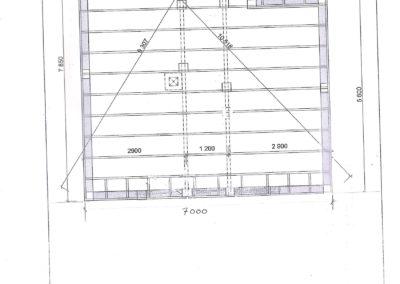 Beiarhytta 50 m2 Bjelkelagsplan og pilarer 001