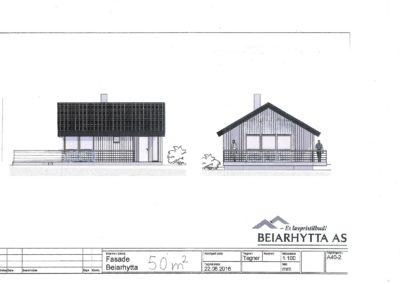 Fasadetegning Beiarhytta 50 m2 001